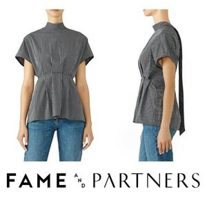 Fame & Partners Sebastian Top Mock Neck Back